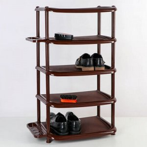Полка для обуви, 5 ярусов, 48?31?83 см, цвет коричневый