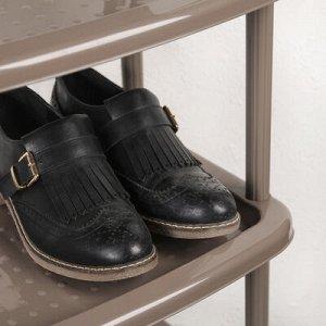 Этажерка для обуви «Паола», 5 ярусов, 49?31?87 см, цвет коричневый