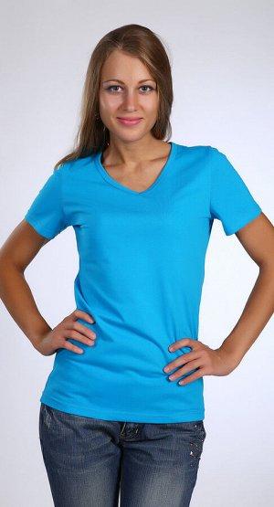Футболка Количество в упаковке: 1; Артикул: ЛЕТ-м115г; Цвет: Голубой; Ткань: Кулирка; Состав: 100% Хлопок; Цвет: Голубой
