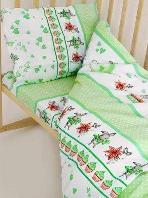 """Комплект постельного белья """"Зайчики 2"""" Ясли"""