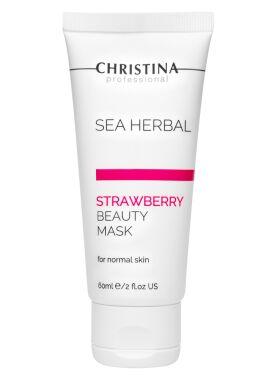 Маска красоты клубничная для нормальной кожи / Sea Herbal Beauty Mask Strawberry Christina