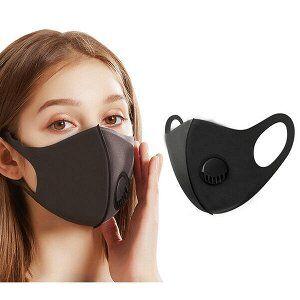 Защитная 3D маска. Многоразовая c клапаном