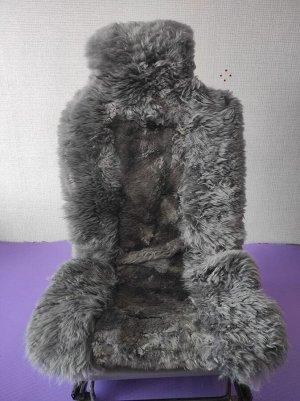 Накидка комбинированный (длинный и короткий ворс). Серый