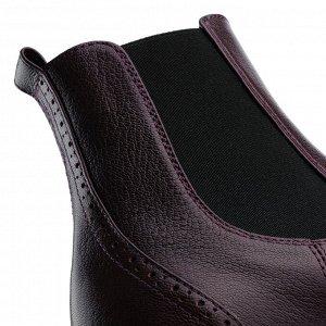 Ботинки Челси на низком каблуке. Модель 3216 б бордо наппа (демисезон)