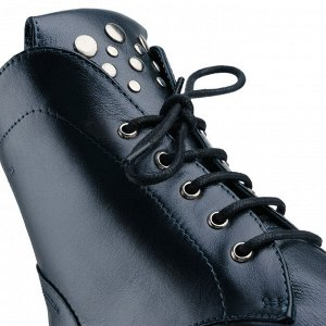 Ботинки женские. Модель 3218 б графит метал (демисезон)