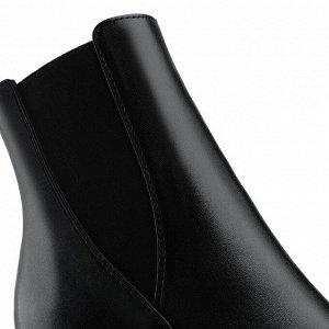 Ботинки с острым носом на устойчивом каблуке. Модель 3235 б (демисезон)
