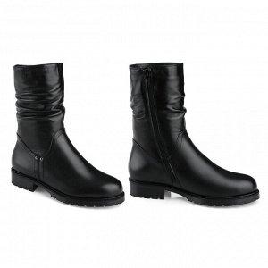 Зимние ботинки на низком каблуке. Модель 3236 н (зима)