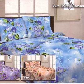 Постельное белье из бязи 1.5 спальное, синий