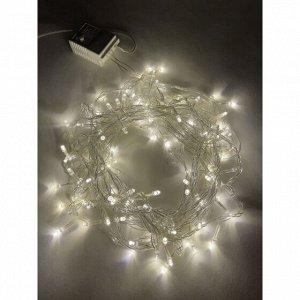 Гирлянды ENIN-10B  ЭРА Гирлянда LED Нить 10 м теплый свет 8 режимов, 220V, IP20