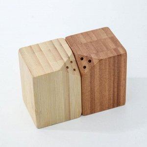 Набор для специй, 10?5?7 см, 2 шт, на магнитах, бамбук