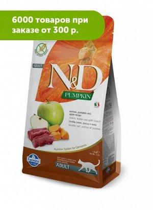 Farmina N&D Grain Free Adult сухой корм для кошек беззерновой Оленина тыква и яблоко 1,5 кг