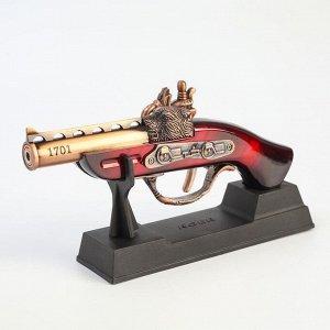 """Сувенирное оружие с зажигалкой """"Пистолет"""" пьезо, газ"""