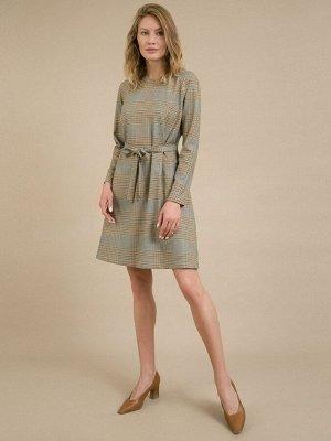 Платье Состав ткани: Вискоза 60%, Полиэстер 37%, Эластан 3% Длина: 90 См. Описание модели Платье в клетку. Модель А-силуэта на подкладке. Имеет круглый вырез горловины, длинные рукава-реглан, притачны