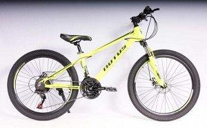 """Велосипед NOTUS 2-х колесный 24"""" (21скорость) FX220 желтый"""