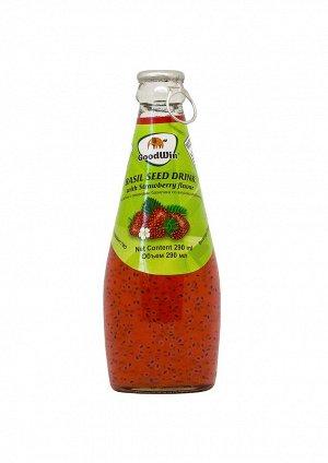 Безалкогольный напиток с семенами базилика (GoodWin Brand Basil Seed Drink with Strawberry Flavor) с клубничным вкусом