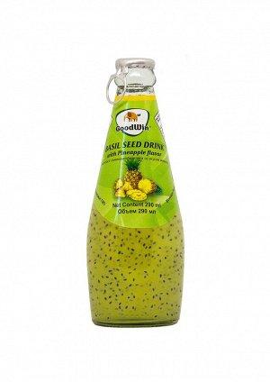 Безалкогольный напиток с семенами базилика (GoodWin Brand Basil Seed Drink with Pineapple Flavor) с ананасовым вкусом