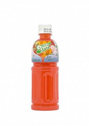 """Безалкогольный напиток """"Green Mate"""" с соком ананаса, клубники, апельсина и личи"""