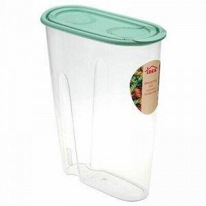 Банка для сыпучих продуктов пластмассовая 2,1л, 9х23,5х19,5с