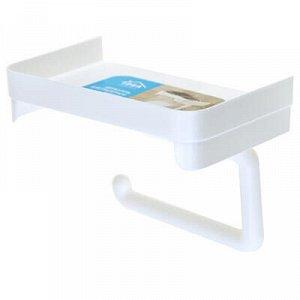 Держатель для туалетной бумаги пластмассовый 18,5х11х14см, с