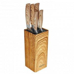 Набор кухонных ножей на подставке 6 предметов AK-2105