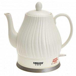 Чайник электрический 1500 Вт 1,5 л LUX DE-1006 белый