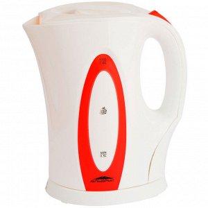 Чайник электрический 2200 Вт, 2 л ЭЛЬБРУС-4 белый с красным