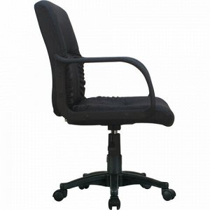 """Кресло BRABIX """"Hit MG-300"""", с подлокотниками, экокожа, черное, 530864"""
