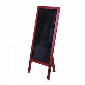 Доска-штендер односторонняя меловая 45х104 см, деревянная окрашенная рама, BRAUBERG, 236154