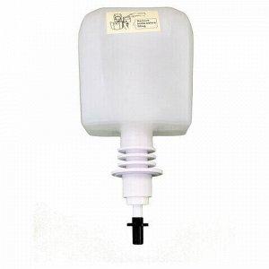 Диспенсер для жидкого антисептика СЕНСОРНЫЙ, 1 л, спрей, батарейки АА, белый, HOR, 1808S