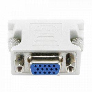 Переходник DVI-VGA, CABLEXPERT, M-F, для передачи аналогового видео, A-DVI-VGA