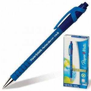 "Ручка шариковая автоматическая PAPER MATE ""Flexgrip Ultra RT"", СИНЯЯ, soft-touch, узел 1 мм, линия письма 0,8 мм, S0190303"
