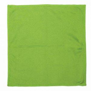 Салфетки для стекла и оптики, КОМПЛЕКТ 3 шт., микрофибра, 25х25 см, зеленые, ЛЮБАША ЭКОНОМ, 603946