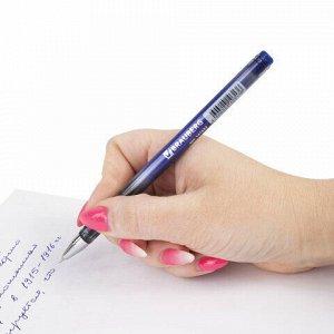 """Ручка шариковая масляная BRAUBERG """"Profi-Oil"""", СИНЯЯ, корпус с печатью, узел 0,7 мм, линия письма 0,35 мм, 141632"""