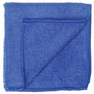 Салфетка универсальная, микрофибра, 30х30 см, синяя, ЛЮБАША ЭКОНОМ, 603949
