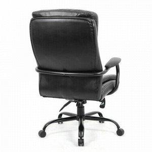 """Кресло офисное BRABIX PREMIUM """"Heavy Duty HD-004"""", НАГРУЗКА до 200 кг, экокожа, черное, 531942"""