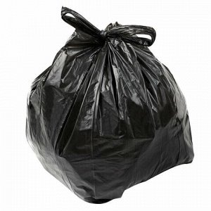 """Мешки для мусора 30 л, с ручками, черные, в пачке 20 шт., ПНД, 12 мкм, 30х60 см, прочные, КОНЦЕПЦИЯ БЫТА """"Гранит"""", 404"""
