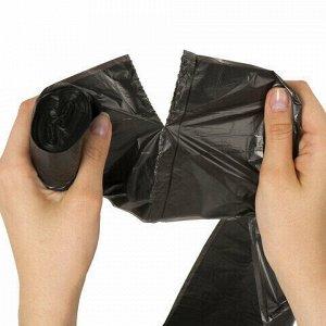 Мешки для мусора 30 л, черные, в рулоне 30 шт., ПНД, 8 мкм, 50х60 см (±5%), стандарт, ЛАЙМА, 601377