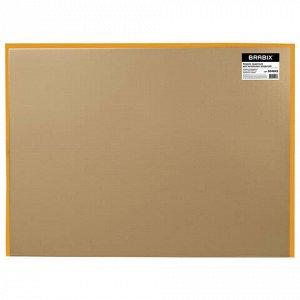 Коврик защитный напольный BRABIX, поликарбонат, 90х120 см, глянец, толщина 1 мм, 604845