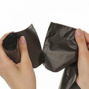 Мешки для мусора 20 л, черные, в рулоне 30 шт., ПНД 8 мкм, 45х50 см, LAIMA стандарт, 601376
