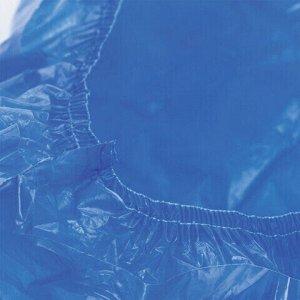 Бахилы КОМПЛЕКТ 600 шт. (300 пар), СВЕРХПРОЧНЫЕ, двойная резинка, 39х14 см, 100 мкм, 10 г, LAIMA, 630719