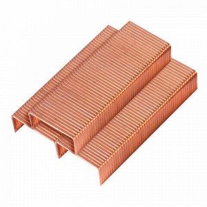 Скобы для степлера №24/6, 1000 штук, медное покр., LACO (Германия), до 30 листов, НК 24
