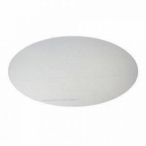 Коврик защитный напольный BRABIX, поликарбонат, КРУГ диаметр 100 см, глянец, толщина 1 мм, 604849