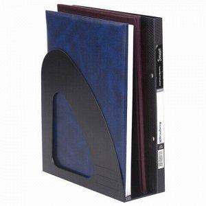 "Лоток вертикальный для бумаг BRAUBERG ""Delta"", 240х90х240 мм, черный, 237239"