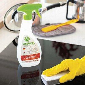 Средство для чистки плит, духовок, грилей от жира/нагара 500 мл SYNERGETIC, распылитель, ЭКО, 106052
