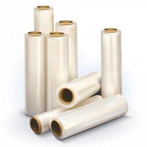 Стрейч-пленка для ручной упаковки 50 см х 166 м, 17 мкм, 1,3 кг - нетто, ПЕРВИЧНОЕ СЫРЬЕ, растяжение 300%