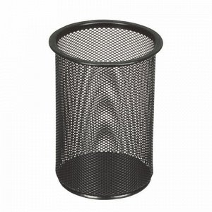 """Подставка-органайзер BRAUBERG """"Germanium"""", металлическая, круглое основание, 158х120 мм, черная, 231966"""