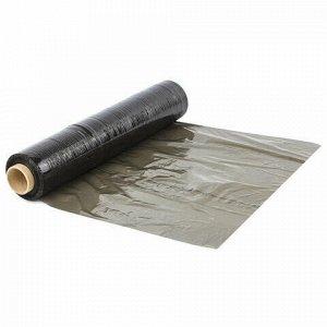 Стрейч-пленка для ручной упаковки 50 см х 190 м, ЧЕРНАЯ, 23 мкм, 2 кг, вторичное сырье, растяжение 180%