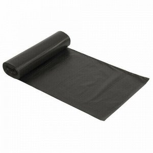 Мешки для мусора 120 л черные в рулоне 10 шт., ПНД 14 мкм, 70х110 см, LAIMA стандарт, 601385