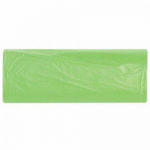 Мешки для мусора биоразлагаемые 60 л зеленые в рулоне 20 шт. прочные, ПНД 15 мкм, 60х70 см, LAIMA, 601401