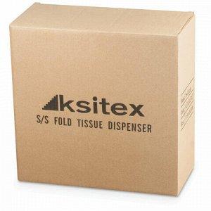 Диспенсер для полотенец KSITEX (Система H3), ZZ (V), нержавеющая сталь, матовый, TH-5823 SS, TН-5823 SS